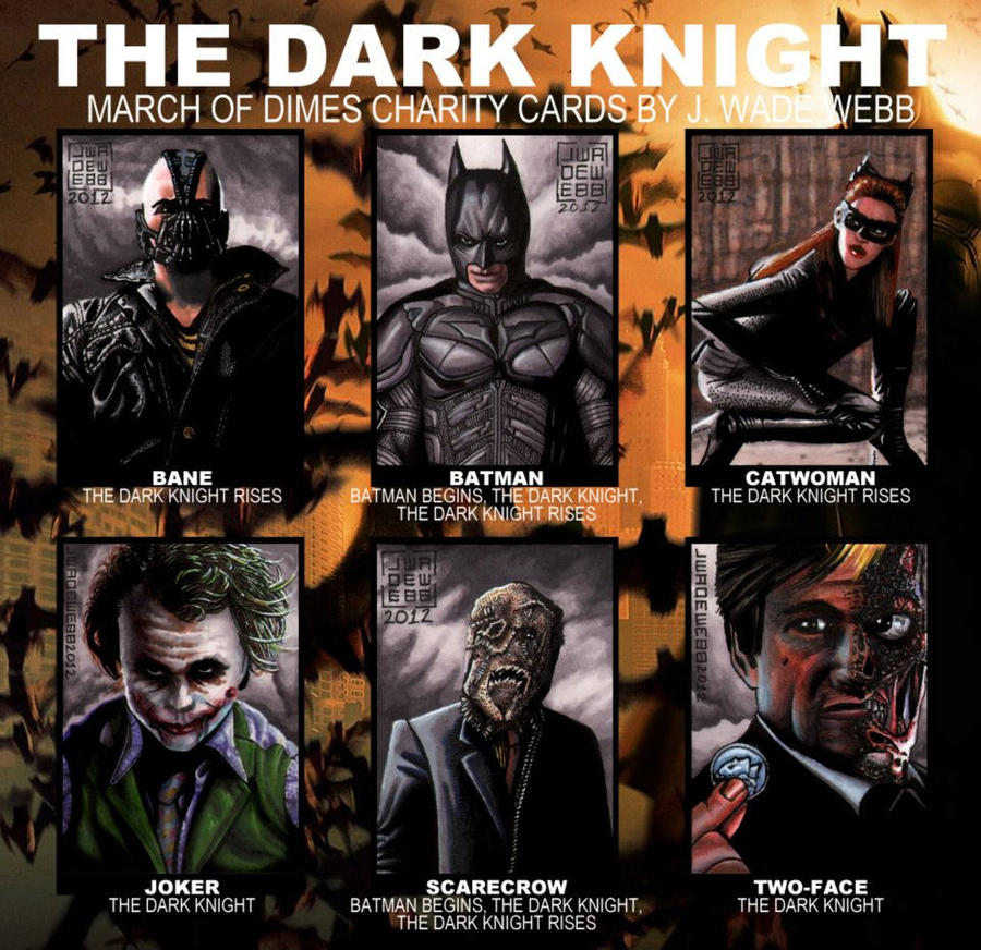 Batman sketch cards for March of Dimes by JWadeWebb