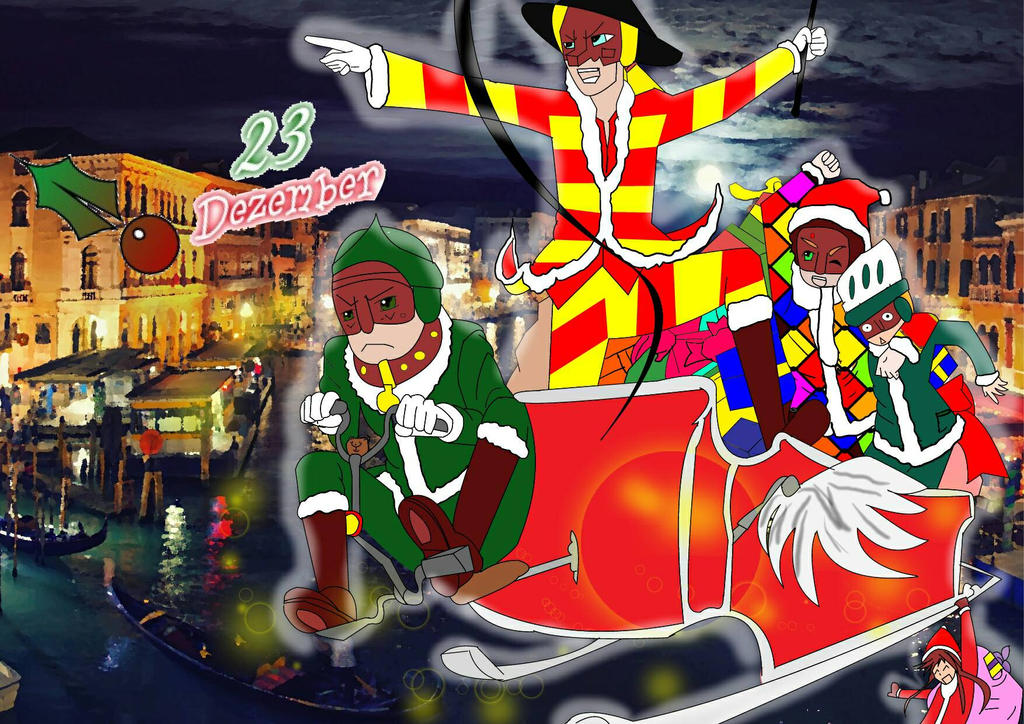 Christmas 23 Dezember Arlecchino and Friends by Lyrays