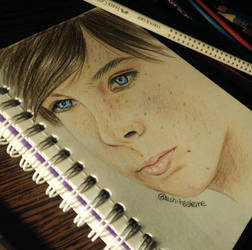 Carl Grimes/Chandler Riggs drawing
