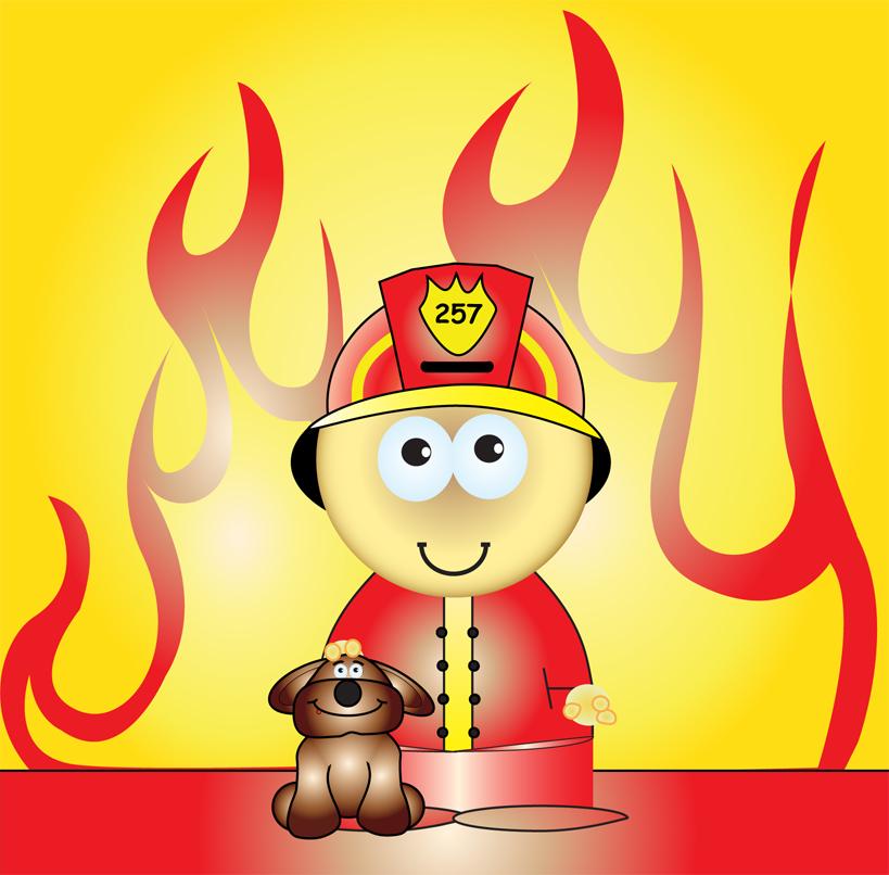 Fireman cartoon by exendor