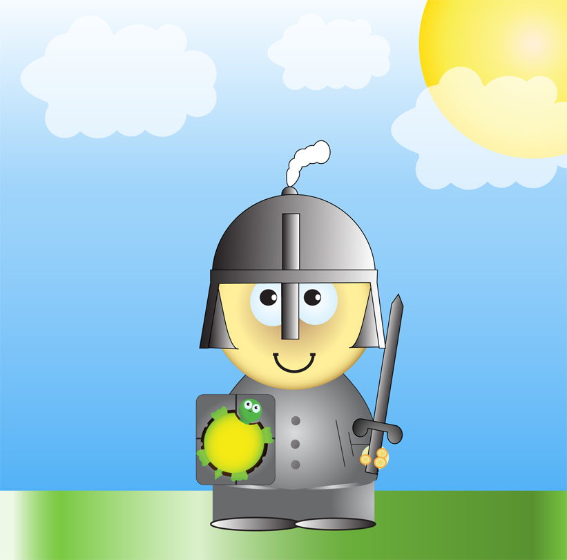 Cartoon Knight by Exendor