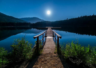 Moonlight On Dock by quicksilver1212