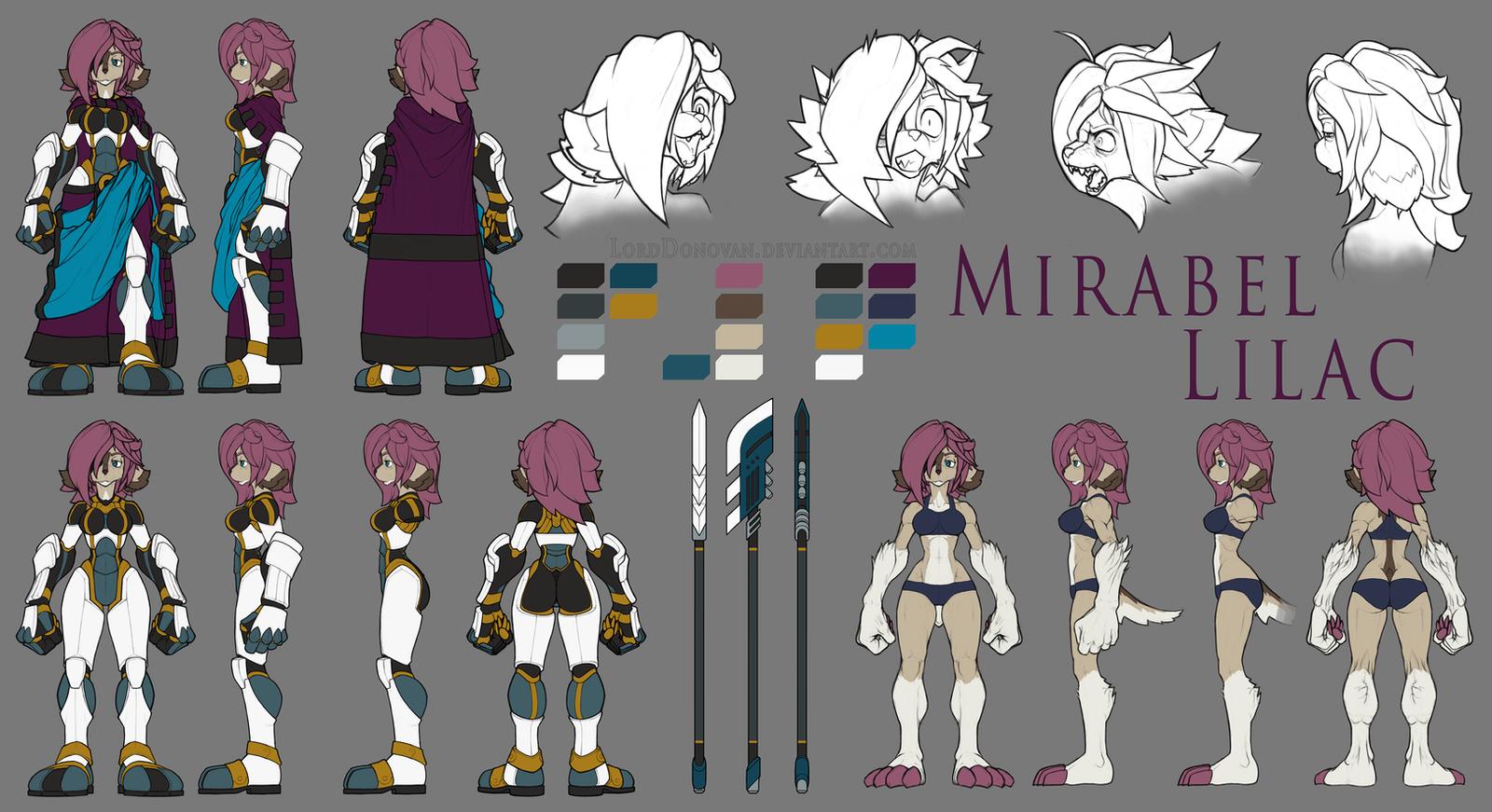 Mirabel Model Sheet Commission by LordDonovan