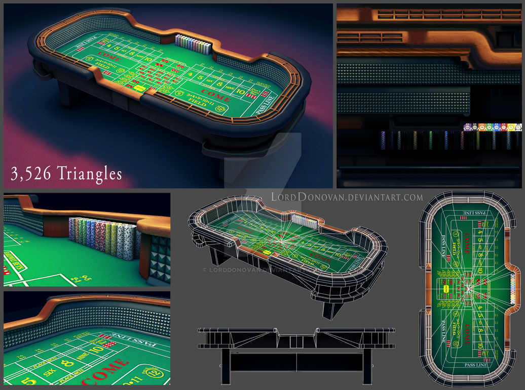 Craps Table Model by LordDonovan