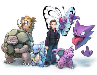 Pokemon Team Group Photo Commission by LordDonovan