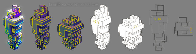 Crystal Core Bismuth Knowledge Crystal Model Sheet by LordDonovan