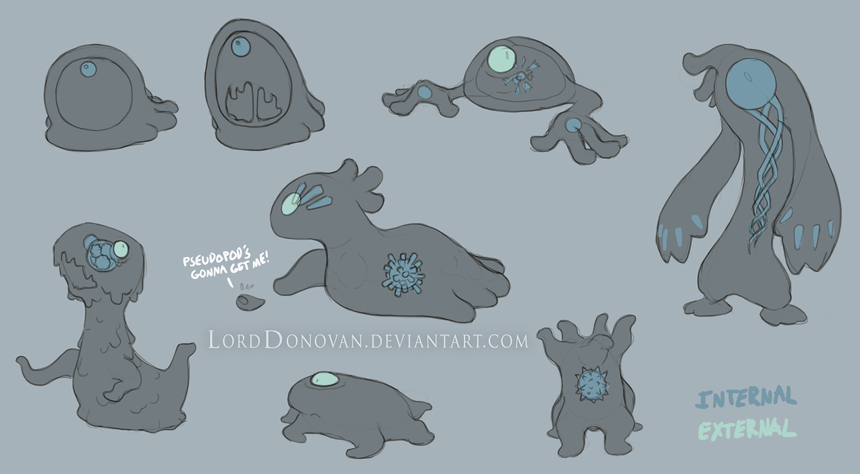 Crystal Core Goo Creature Concepts by LordDonovan