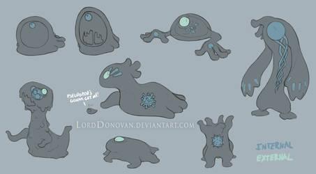 Crystal Core Goo Creature Concepts by LordDonovan