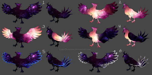 Crystal Core Currier Bird Color Concepts Round 2