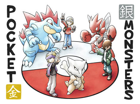 Commission: KingCroww Pokemon Trainer Triad