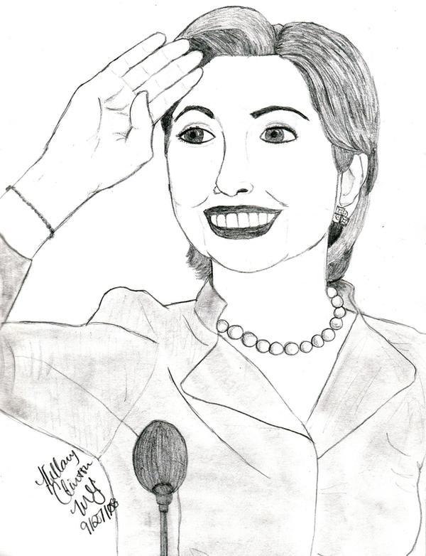 Hillary Rodham Clinton by LivRavencroft