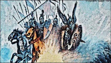 Assaut-de-chevaliers by dragonfroid