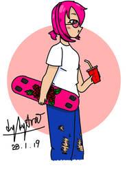 Kool Skateboard Gurl Drinkin Yolc