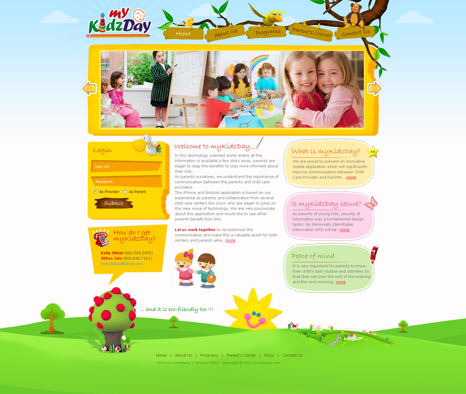 Kids design by swati05 designs interfaces web interfaces 2012 2014