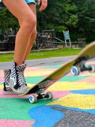 Skateboard and Vans