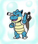 Hey! Blastoise used Bubblebeam!
