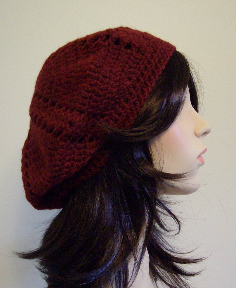 Bonnie Beret in Burgundy Wool by keibers