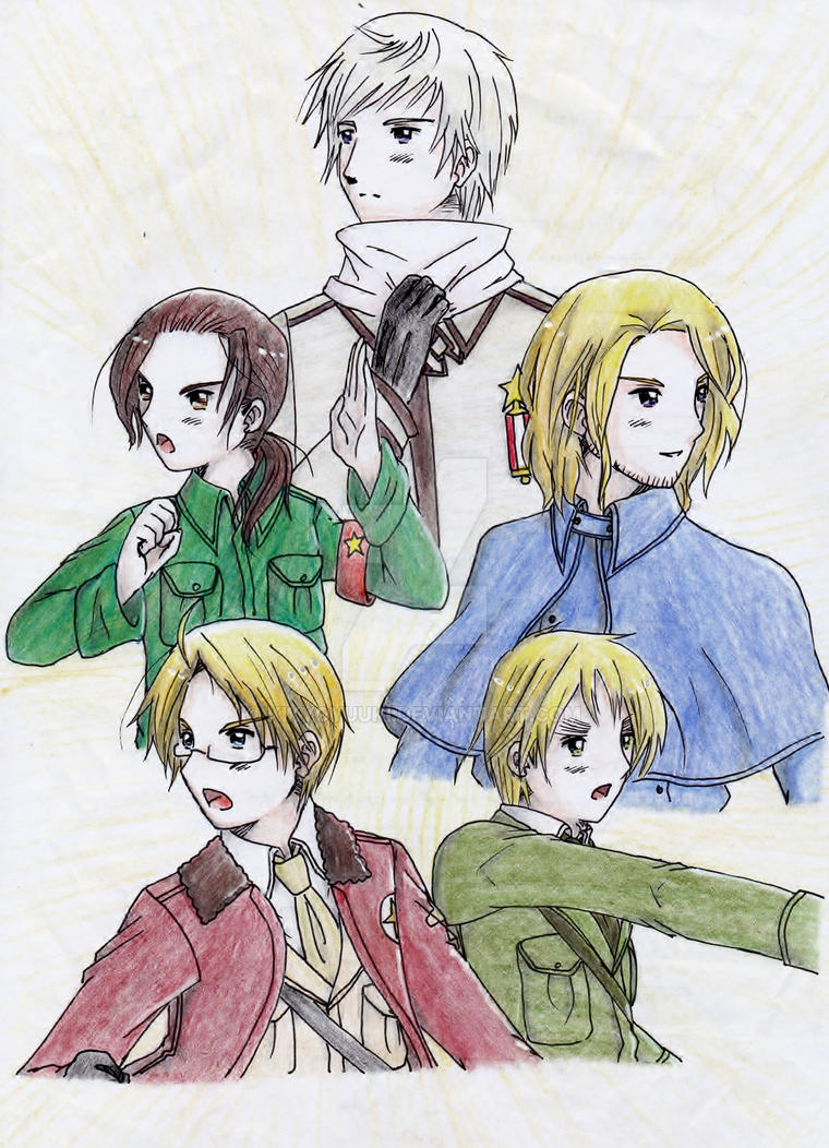 hetalia coloring pages allies - photo#8