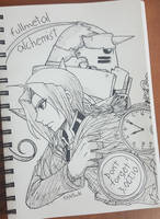 Inktober: Fullmetal Alchemist by KikyoYuuki