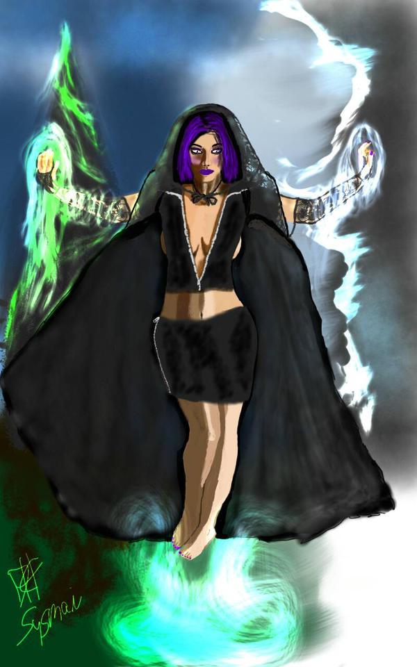 Dark Elemental Witch by dxsysmai