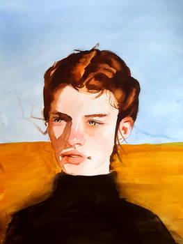 portrait in the desert sun