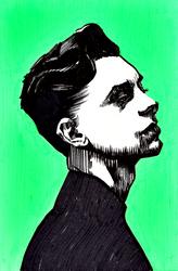 Male portrait disdain by Neivan-IV