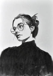 woman portrait with glasses by Neivan-IV
