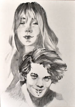 young charcoal portrait
