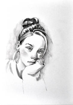 rosy cheek portrait