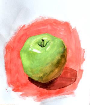 apple stilllife gouache by Neivan-IV