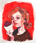 red flower lady by Neivan-IV