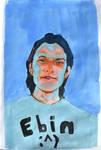 blue gouache portrait by Neivan-IV