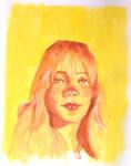 gouache portrait in the sun