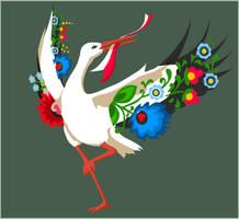 Polish stork by KanahaniART
