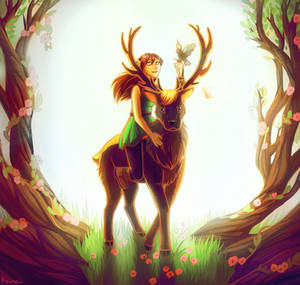 Oh deer by KanahaniART