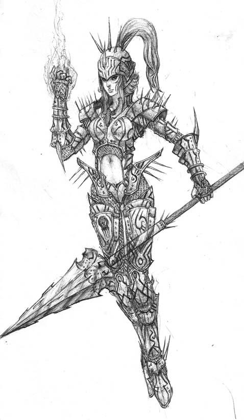 Fendruss- Female Knight Lancer By Tarupurupoii On DeviantArt