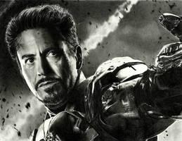 Iron Man (drawing) by shaynaJreddick