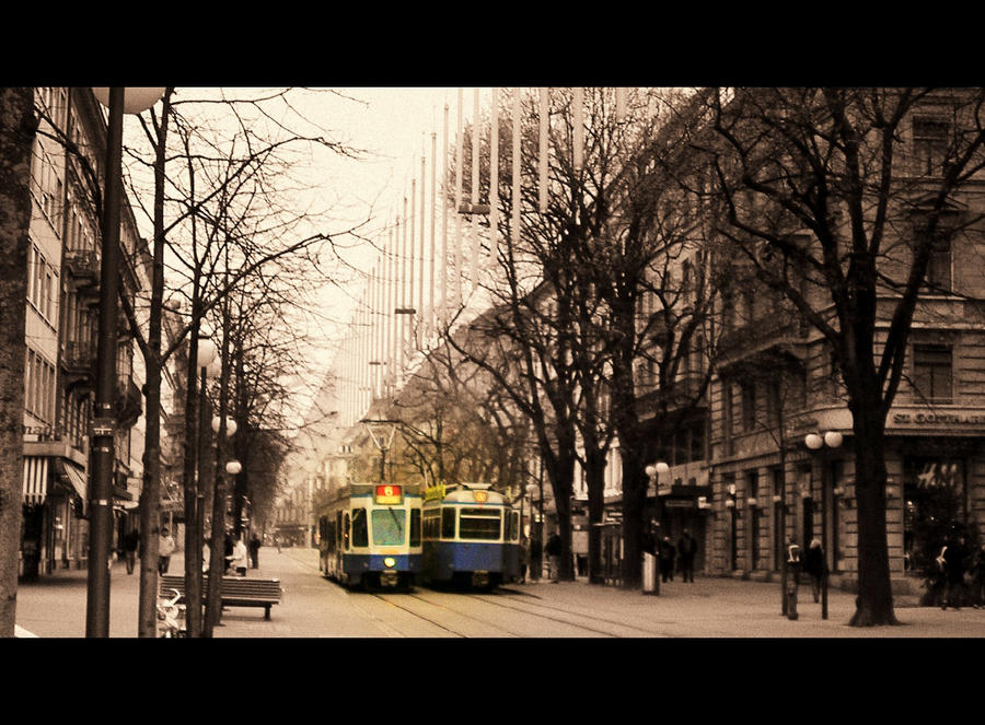 Zurich-street by GirlinTranslation