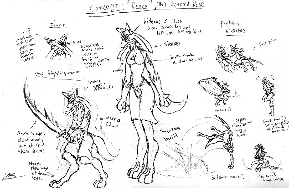 Character Concept: 'Reece' by Snowfyre