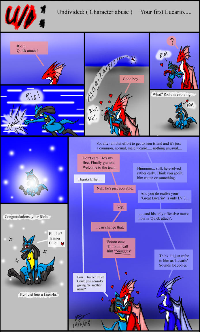 Undivided: CA, First Lucario by Snowfyre