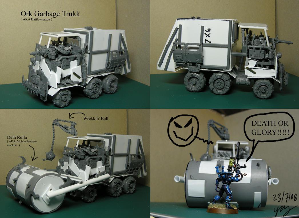 WIP Ork Garbage Trukk by Snowfyre