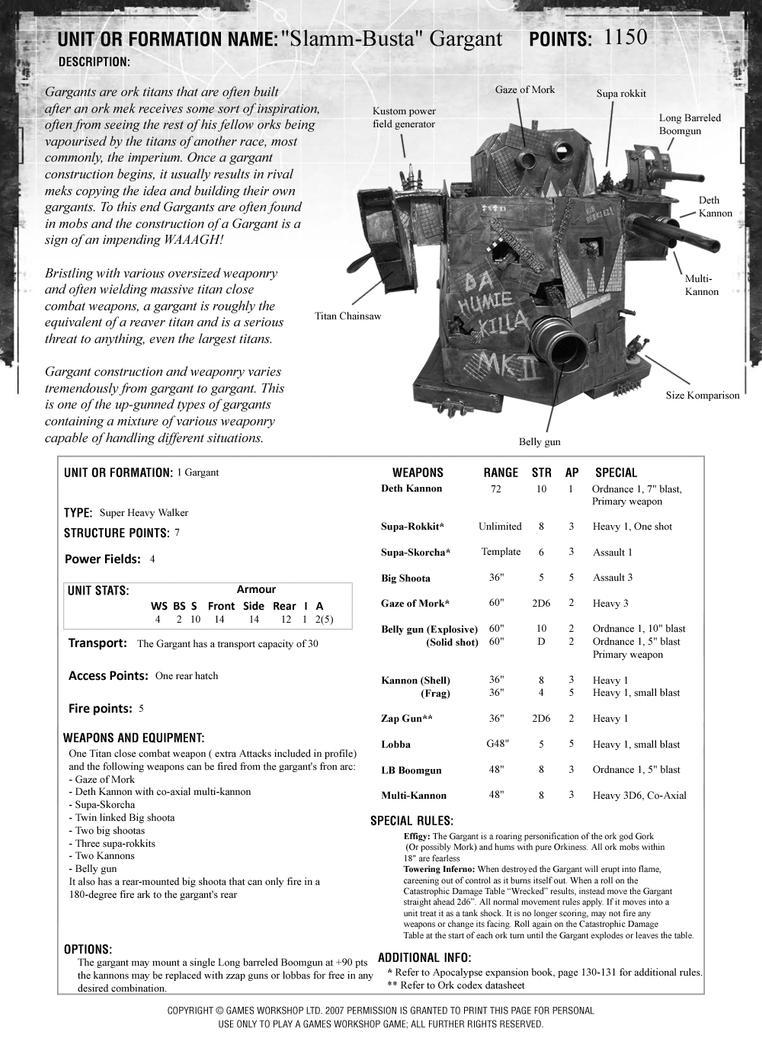 Warhound titan rules