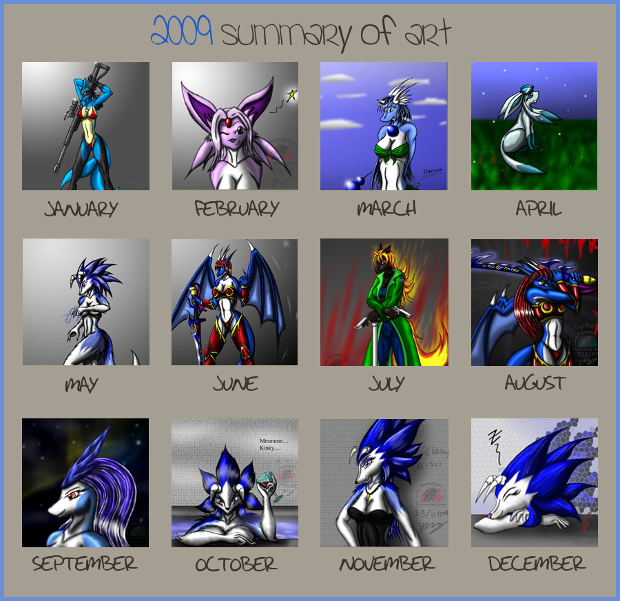2009 Summary of Art Meme by Snowfyre
