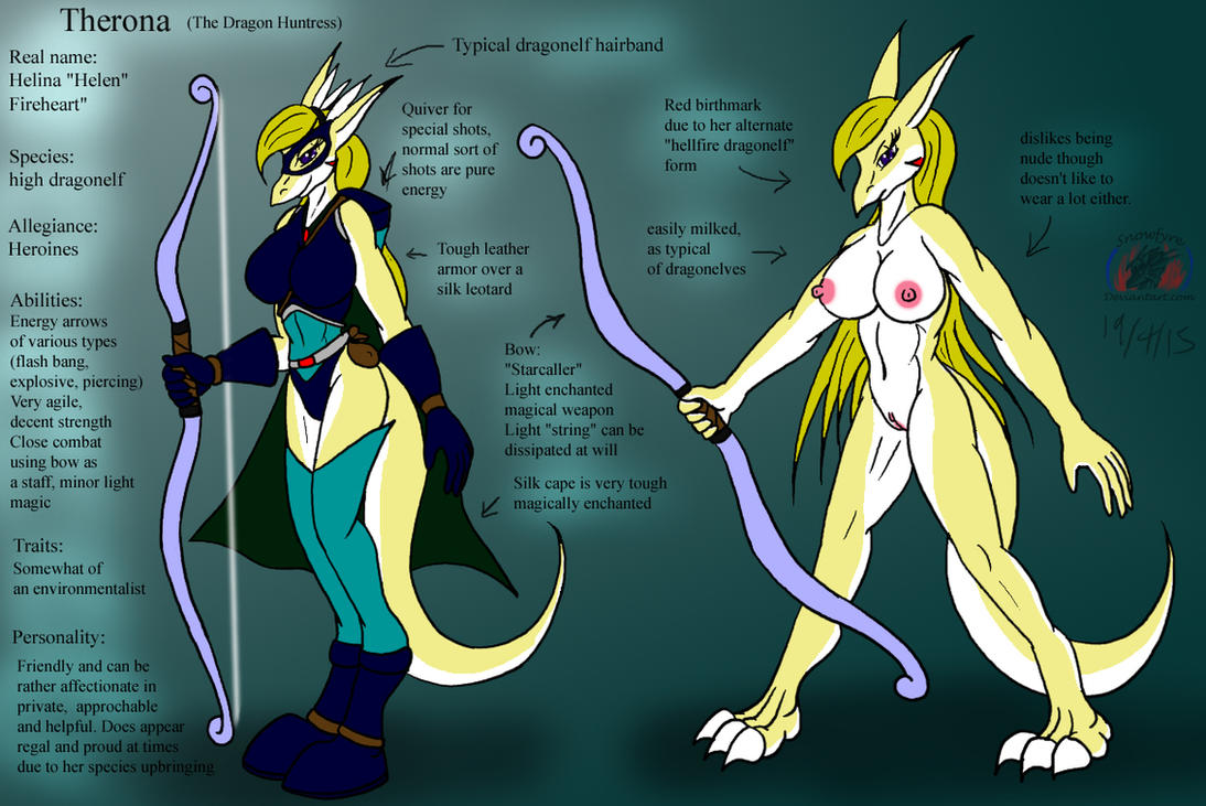 Superheroine reference: Therona by Snowfyre