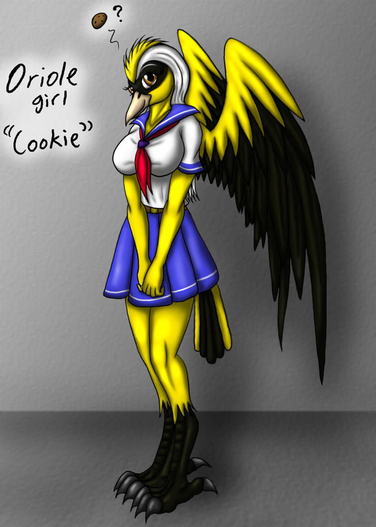The Oriole girl, Cookie  by Snowfyre