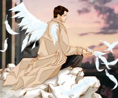 Fallen angel by glaringstar