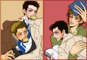 Dean X Cas,Sam X Cas by glaringstar