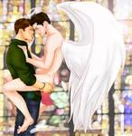 The angel descended by glaringstar