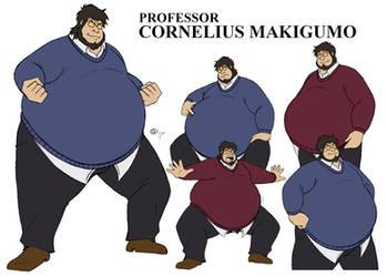 Professor Cornelius Makigumo character ref sheet by yokodoko