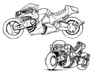 Rachel's motorcycle by BloodlustComics